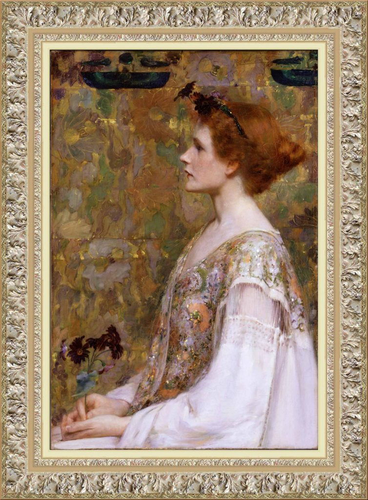 Albert Herter Woman with Red Hair